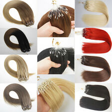7A Double Drawn Remy Human Hair Extensions Silicone Micro Ring Bead Tip Hair 1g