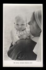 r4309 - Hrh Princess Anne as a young baby in her Nurses arms - postcard