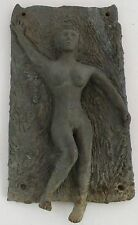 Old Bronze sculpture, plaque, wall hanging of a naked lady, rustic & very heavy