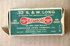 Remington-Umc Kleanbore .32 S. & W. Long Cartridges Empty Box