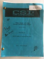 "CSI EPISODE #804 "" The Case Of The Cross-Dressing Carp"" SCRIPT"