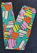 NWT One Size OS LuLaRoe 4th Birthday Leggings Cakes Candles Exclusive Decorator
