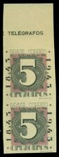 BRAZIL #C52v 5cr Airmail, IMPERF PAIR ERROR, unused no gum, VF