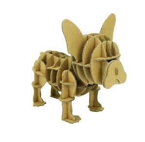 Chien à assembler en carton animaux puzzle 3D enfants décorer créer