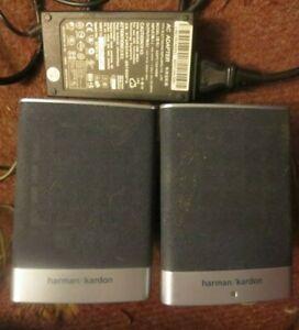 2 Compact Grey Harman Kardon HP Computer Entry Satellite Speakers