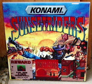 SUNSET RIDERS Sunsetraiders Arcade game 80's Tribute  CERAMIC TILE