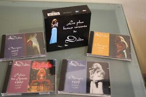 Dalida . Coffret de 5 CD . Les plus beaux concerts . Edition très limitée .