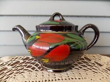 Vintage Royal Canadian Art Pottery Teapot with Flower Floral Design
