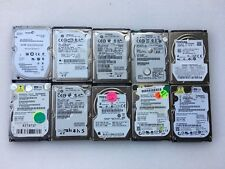 "LOT OF 10 250GB 2.5"" Laptop SATA Hard Drives Mix Seagate WD Hitachi Toshiba"