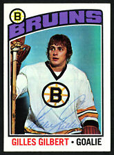 Gilles Gilbert Autographed Signed 1976-77 Topps Card #255 Boston Bruins 150199