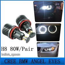 80W CREE LED Angel Eyes H8 Halo Ring 6000K For BMW 3 Series E90 E91 LCI E92 E93