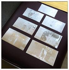 7pcs Euro 500/200/100/50/20 Bills Silver Foil Banknotes Unique Collection Gift