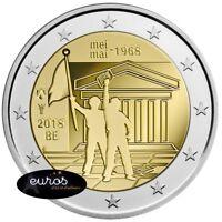 Pièce 2 euros commémorative BELGIQUE 2018 - 50ème anniversaire : mai 1968 - UNC
