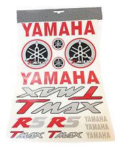 Kit De Pegatinas Yamaha T-Max escrito e logotipos rosso/negro