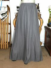 GAP MUTED GRAY TAUPE SHADE PANELED FULLER LONG SKIRT SZ S