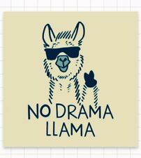 "Kein Drama KEEP IT REAL Chill Relax Fun Easy Going Llama 3"" Cool Hipster Aufkleber"