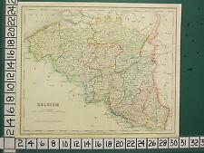 C1836 géorgiens map ~ belgique ~ brabant namur flandre anvers liege