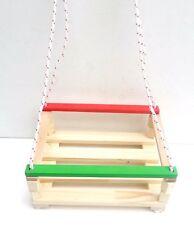 bois balançoire de jardin, pliable à bascule avec œillets pour les tout-petits S