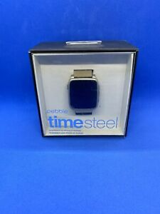 Pebble Time Steel Silver Smart Watch - Stainless - Used Tested Working