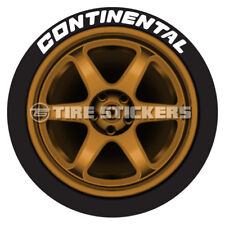 "TIRE LETTERS - CONTINENTAL - 1.50"" For 17"" 18"" Wheels (4 Stickers) Permanent"