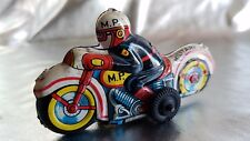 MASUDAYA MODERN TOYS JAPAN TIN FRICTION MP MILITARY POLICE MOTORCYCLE TOY .