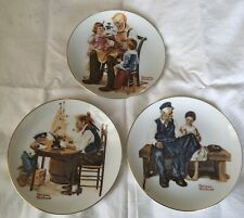 Norman Rockwell Collector Plates 1982 Three of a Series of Four