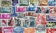 AEF- AFRIQUE EQUATORIALE FRANCAISE collections de 25 à 100 timbres différents