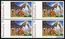1995 Australia Day Paintings $1 The Bridge in Curve Block of 4 MUH Mint Stamps