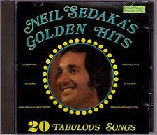 Neil Sedaka - Neil Sedaka's Golden Hits - CD (RCA SPCD1013 No Barcode Australia)