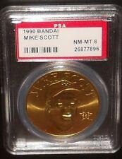 PSA 8 NM-MT 8 - Mike Scott 1990 Bandai Baseball Coins Houston Astros