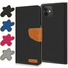 Case Apple IPHONE 11 Cover Wallet Flip Case Protective Cover Fabric Cover