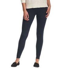 NWT Ann Taylor Loft Lou & Grey Blue Back Zip Elastic Waist Stretchy Leggings XXS