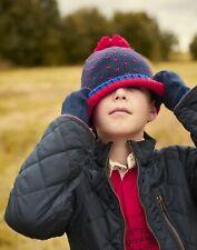 Joules Boys Bobble Birdseye Knit Hat - French Navy