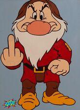 Disney Snow White Seven Dwarfs Painting Grumpy pop art by PAPA
