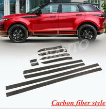 FOR 2020 Land Rover Range Rover Evoque ABS carbon Body Door Side Molding Trim
