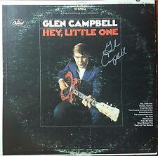 Glen Campbell Hand Signed Album Todd Mueller COA Rock/Country