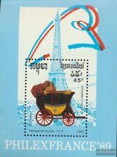Cambodge Bloc 169 (complète edition) neuf avec gomme originale 1989 diligences