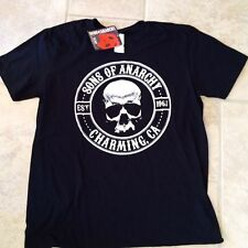 Son's of Anarchy Grim Reaper Black Graphic T-Shirt Tee Road Gear SOA Medium NWT