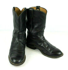 MENS VINTAGE BLACK LEATHER HONDO COWBOY BOOTS SIZE 9.5 EE!