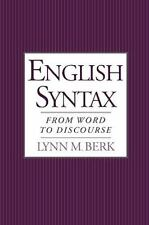 English Syntax: From Word to Discourse, Berk, Lynn M., Acceptable Book