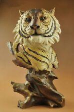 "11""High Creative Nice Resin Big Cat Tiger Head Bust Statue Figure Sculpture"