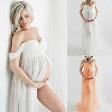 Schwangere Bandeau Maxikleid Umstandskleid Schwangerschaftskleid Fotoshooting DE