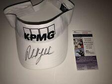 phil mickelson signed autographed KPMG white visor rare JSA # P87565