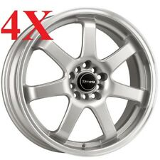 Drag Wheels DR-35 17x7.5 5x100 5x114 Silver Rims For Neon Matrix Tiburon 3000gt