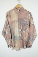 Vintage Mens 90S abstract crazy print festival shirt SIZE LARGE (C391)
