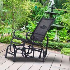 Outdoor Rattan Aluminum Wicker Chair Rocker Chair Swing Forward-Backward Patio