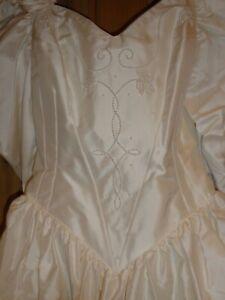 BUNDLE - Vintage Wedding Dress - Catherine Rayner - Size 12, Raw Silk, Ivory