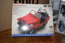 Testers Burago 1/24 Jeep – Renegade Metal Body Scale Crawler Body Red NEW