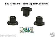 """10 pack 1/4"""" 6mm Top Hat Grommet/Seals Hydroponics Drip System Tubing $ Save $"""