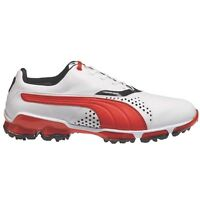 Puma Titan Tour White Red Leather Golf Shoes Waterproof 6,7,8,9,10,11 + 1/2 Size